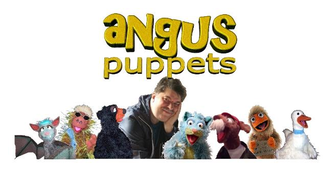 Terry Angus and his puppets