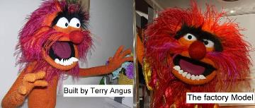 Animal poser puppet by Terry Angus compared to Master Replica version