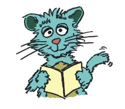 Butch G. Cat with his journal illustrated by Danny Renfroe