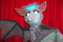 Marney the bat puppet by Terry Angus