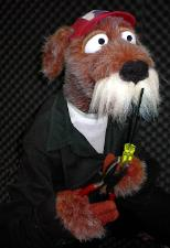 Errol Airedale dog puppet by Terry Angus